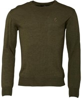 Luke 1977 Mens Gerard 3 Crew Neck Jumper Khaki