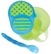 Sassy First Solids Bowl & Spoon - Blue/Green by