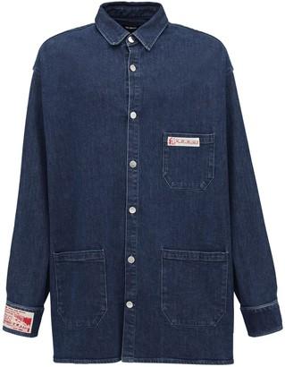 Raf Simons Oversize Cotton Shirt Jacket W/ Patches