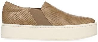 Vince Warren Slip-On Platform Snakeskin-Embossed Leather Sneakers