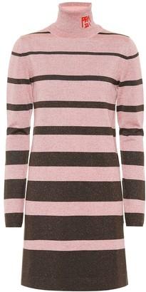 Prada Metallic wool-blend sweater dress