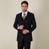 Karl Jackson Black Plain Weave Regular Fit 2 Button Jacket