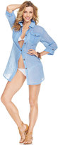 Dotti Long-Sleeve Chambray Cover-Up