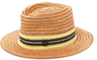 Maison Michel Andre Striped Raffia And Jute Hat - Brown Multi