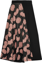 Roland Mouret Offley asymmetric embroidered cotton-blend skirt