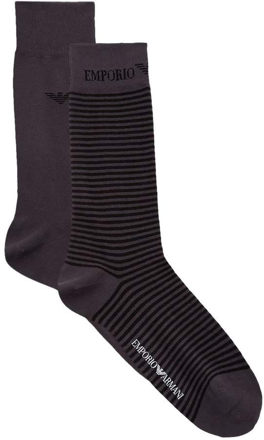 b80b2bc2302 Emporio Armani Men s Socks - ShopStyle