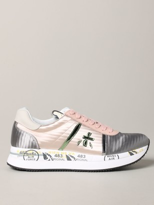Premiata Sneakers Conny Sneakers In Bicolor Leather And Satin