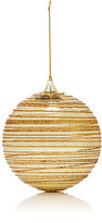 Gold Eagle USA Glitter-Striped Glass Ball Ornament-GOLD, NO COLOR