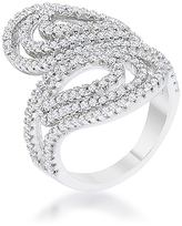 Kate Bissett Cubic Zirconia & Silvertone Circle Ring