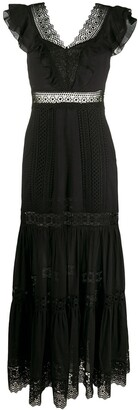 Charo Ruiz Ibiza Lace Trim Gown