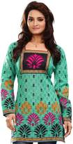 Maple Clothing India Tunic Top Kurti Womens Printed Cotton Blouse Indian Apparel (, M)