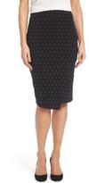 Vince Camuto Women's Pin Dot Faux Wrap Skirt