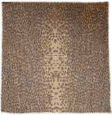 Alexander McQueen Leopard and skull-print cashmere and silk-blend scarf