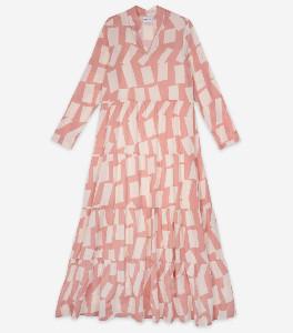 Bobo Choses Long Shadow Printed Dress - organic cotton | nude | XS - Nude