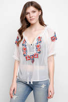 Romeo & Juliet Couture Embroidered Peasant Top