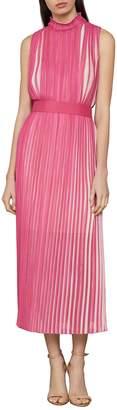 BCBGMAXAZRIA Pleated Fit--Flare Dress