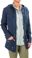 Kenar Linen Anorak Jacket - Hooded (For Women)