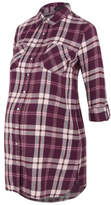 George Maternity Shimmering Woven Check Shirt