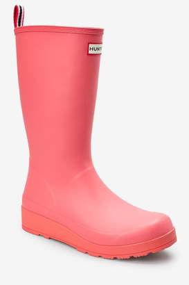 Hunter Womens Womens Pink Original Play Boot Tall Wellies - Pink