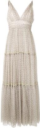Jonathan Simkhai Floral Tulle Maxi Dress
