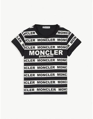 Moncler Logo stripe cotton T-shirt 4-14 years