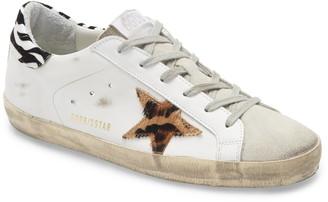 Golden Goose Superstar Genuine Calf Hair Animal Print Sneaker