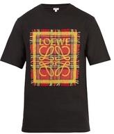 Loewe Tartan-appliqué Cotton T-shirt