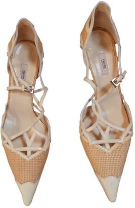 Prada Ecru Patent leather Heels