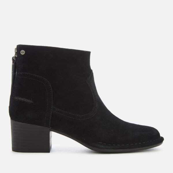 003fc444556 Women's Bandara Suede Heeled Ankle Boots - Black
