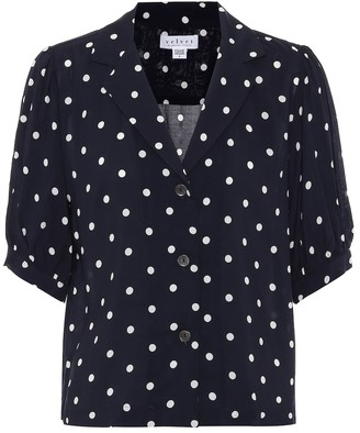 Velvet Kaden polka-dot shirt