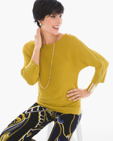 Chico's Zippered-Shoulder Sweater