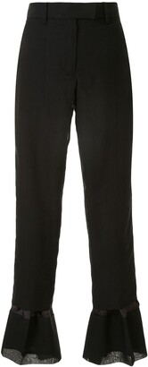 Sacai Flared Cuffs Tailored Trousers