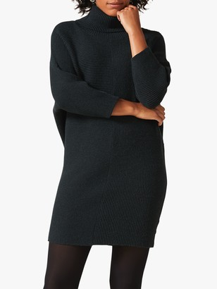 Phase Eight Catheline Knitted Roll Neck Dress, Galactic Green