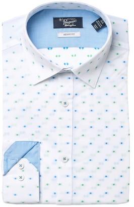 Original Penguin Dot Print Skinny Fit Dress Shirt