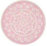 Pottery Barn Kids Mckenna Round Rug, Pink