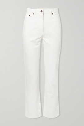 The Row Charlee High-rise Straight-leg Jeans - White