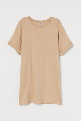 H&M Long T-shirt - Beige