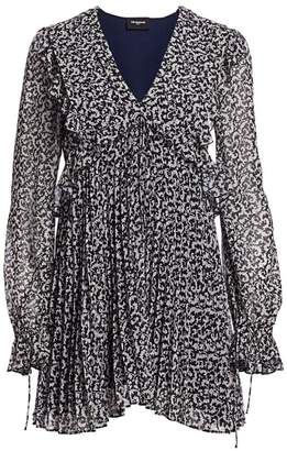 The Kooples Printed Pleated Mini Dress
