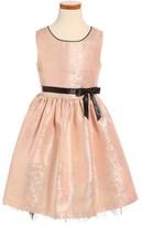 Frais Girl's Metallic Shimmer Sleeveless Dress