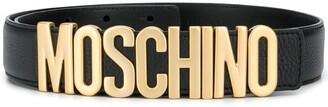 Moschino Logo-Plaque Belt