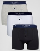 Ted Baker Trunks 3 Pack With Button Fly