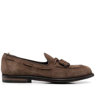 Officine Creative Ivy tassel-embellished suede loafers