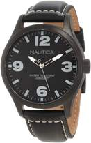 Nautica Men's Leather N13613G Crocodile Leather Quartz Watch with Dial