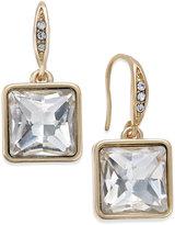 ABS by Allen Schwartz Gold-Tone Square Crystal Mini Drop Earrings