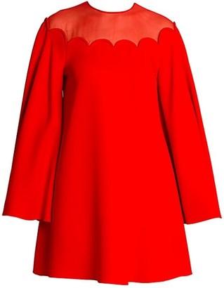 Valentino Scallop Cady Dress