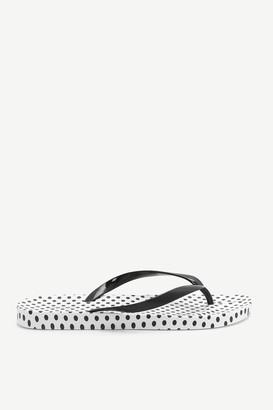Ardene Rubber Polka Dot Flip-Flops