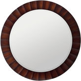 One Kings Lane Paula Round Wall Mirror, Brown