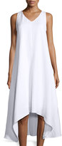 Neiman Marcus A-Line High-Low Midi Dress