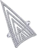 Lafonn Micro Pave Simulated Diamond Sterling Silver Fashion Ring - 1.59 ctw