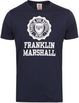 Franklin & Marshall Navy Stamp Crew Neck T-shirt